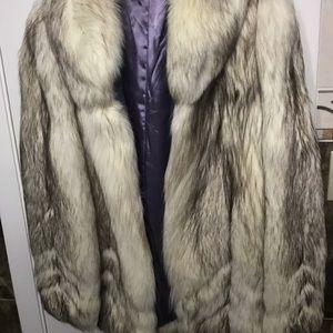 Jackets & Blazers - Gorgeous Fur White Fox Coat Women Vintage Mink New